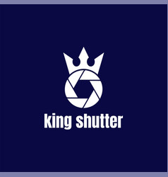 Royal king crown queen shutter lens aperture vector