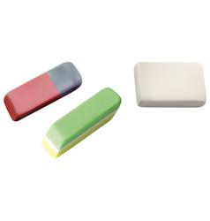 School eraser set vector