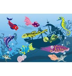 Sea world vector