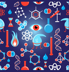 seamless beautiful graphic pattern chemical vector image