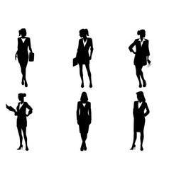 six bussineswomen set vector image