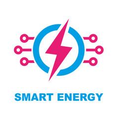 smart energy concept logo template vector image