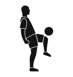 Soccer player man icon simple style vector