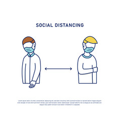social distancing prevention keep distance fight vector image