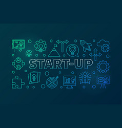 start-up colored - startup vector image