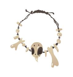 Stone age talisman made bones fangs vector
