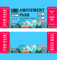 Ticket amusement park vector