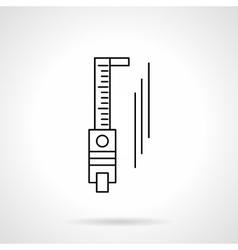 Trammel flat line icon vector