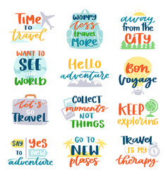 travel lettering adventure calligraphy text vector image