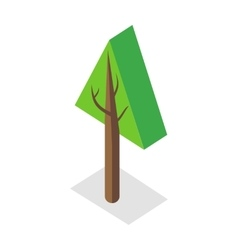 Tree in Isometric Projection vector image