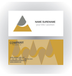 triangle swirl company logobusiness card vector image