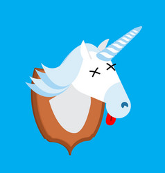 Unicorn hunter trophy head is fantastic animal vector