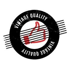 Vintage Quality rubber stamp vector image
