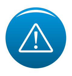 warning sign icon blue vector image