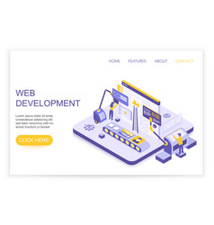 web development and design infographics desktop vector image