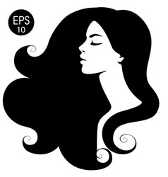 Woman black silhouette vector
