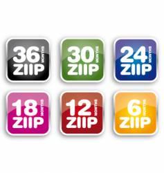 Ziip icons vector