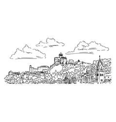 castle trencin vector image vector image