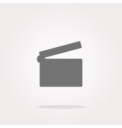 cinema glossy icon button on white vector image