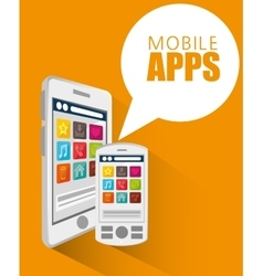 mobile apps design vector image vector image