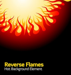 reverse flames vector image vector image