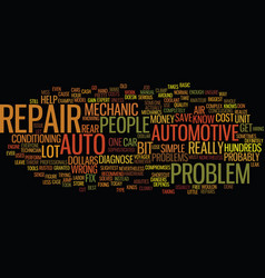 auto repair text background word cloud concept vector image vector image