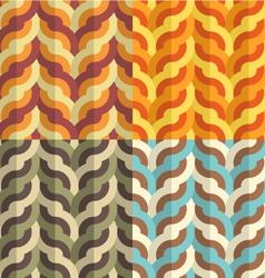Geometric Weaving Pattern vector image