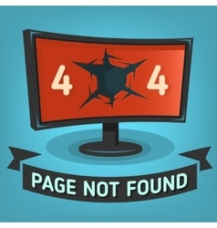 Oops Error 404 Web Banner Page Not Found Broken vector image