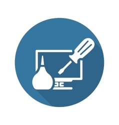 PC Repair Icon Flat Design vector image