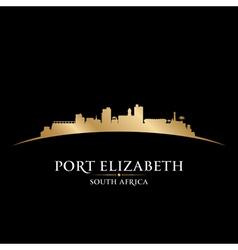 Port Elizabeth South Africa city skyline silhouett vector image vector image