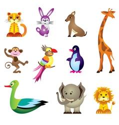 Wild animals toys vector image vector image