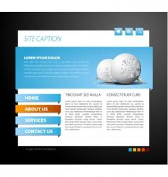 Christmas web page template vector image