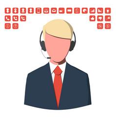 customer service operator vector image