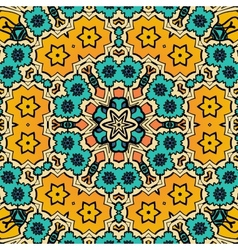 Decorative vintage eastern mandala seamless vector image