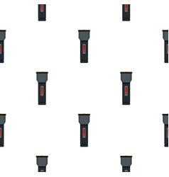 Electric flashlight pattern flat vector