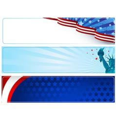 Patriotic banners vector image