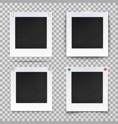 retro photography square empty frames vector image vector image