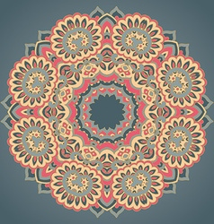 Round ornament pattern with floral decorative vector image vector image
