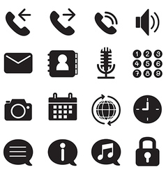 Silhouette mobile phone smartphone application ic vector image