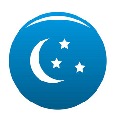 sleep icon blue vector image