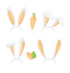 bunny ears set vector image vector image