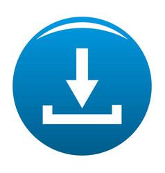 download icon blue vector image