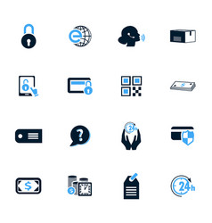 e-commerce icons set vector image