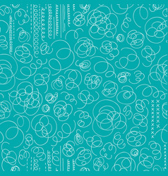 hand drawn abstract seamless pattern in memphis vector image