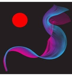 Red Purple Smoke Abstract vector image vector image