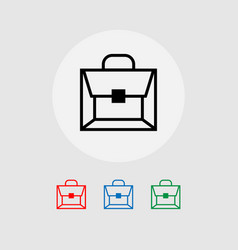 a set of briefcase icons vector image