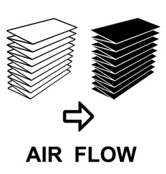 air filter black symbol vector image