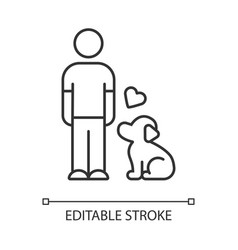 animals welfare and help linear icon pup vector image