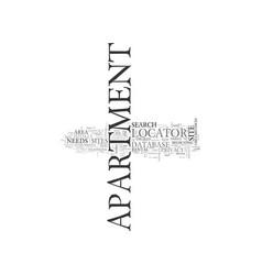 apartment locators or apartment database sites vector image