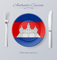 Authentic cuisine vector image